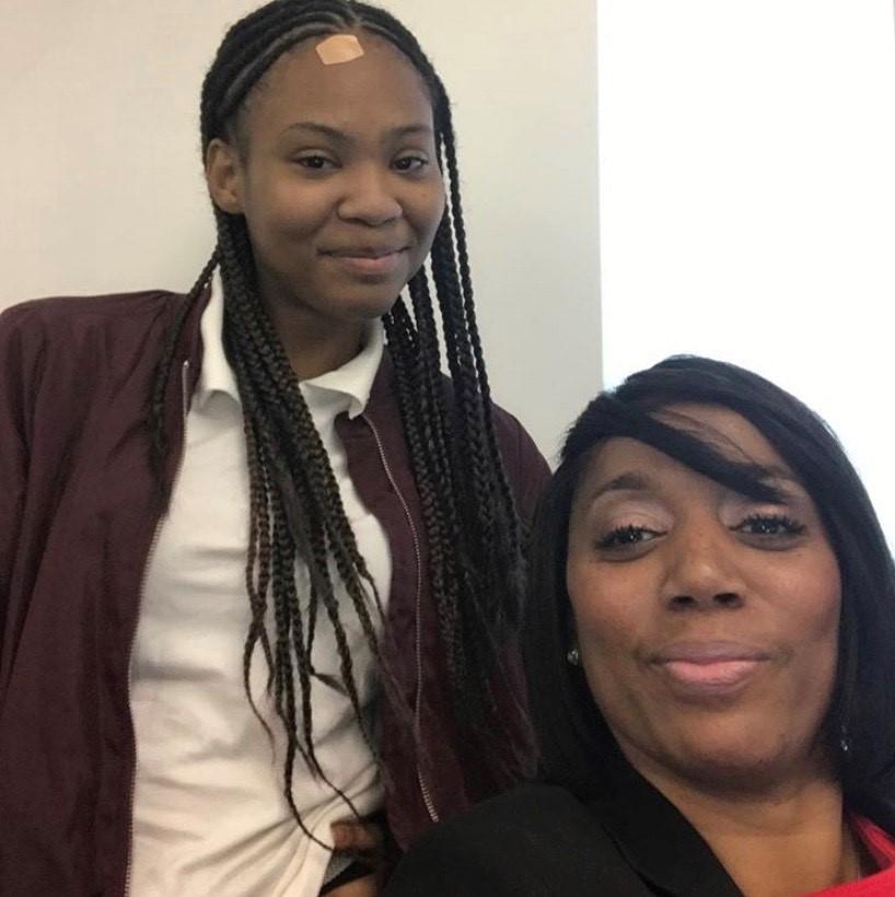 Arethia Jones and Teneshia Moore